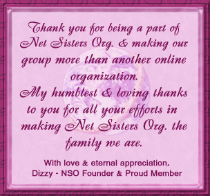 Net Sisters Org Thank You Plaque