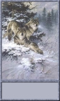 Wolves in Snow Sig Tag